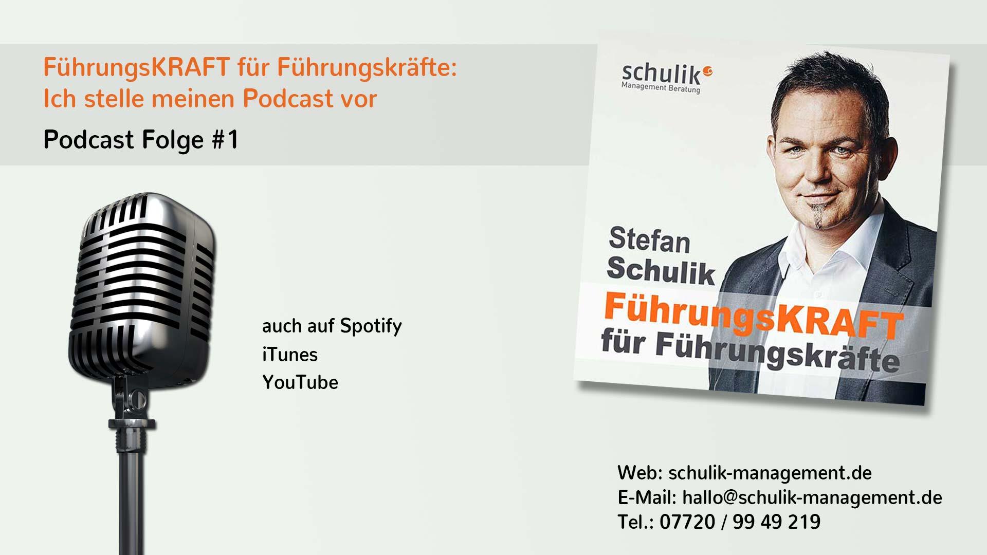 FührungsKRAFT Für Führungskräfte: Ich Stelle Meinen Podcast Vor – Podcast Folge #001
