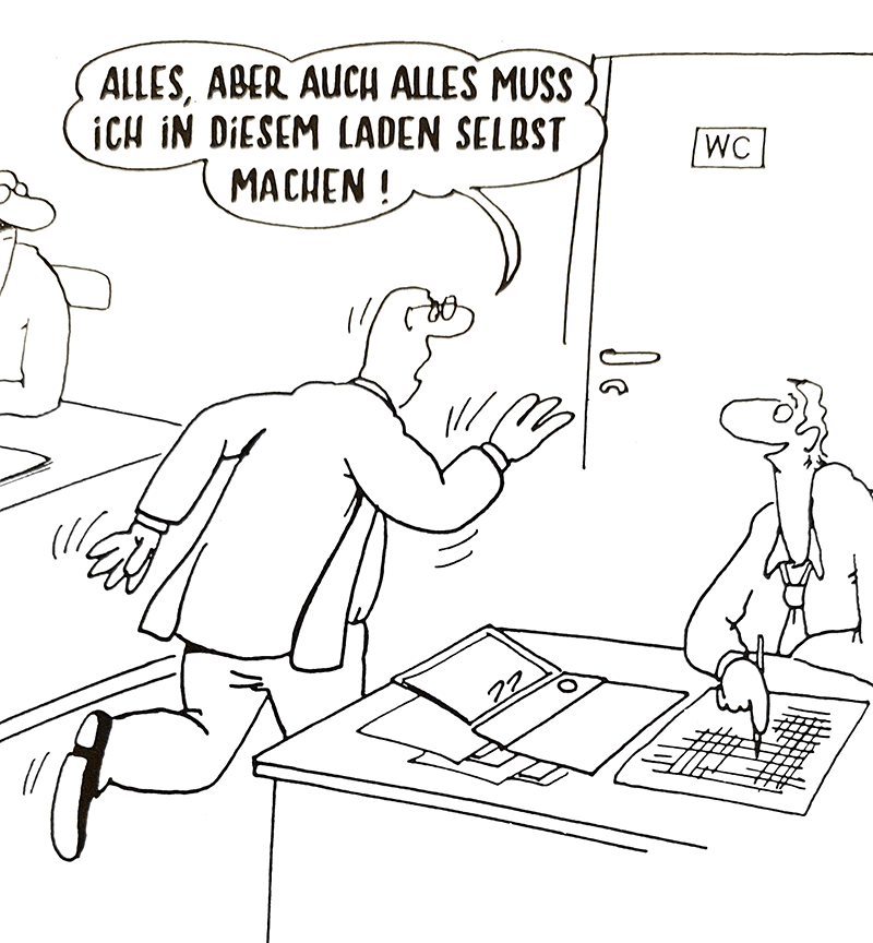 Delegieren - aber-was ? Cartoon