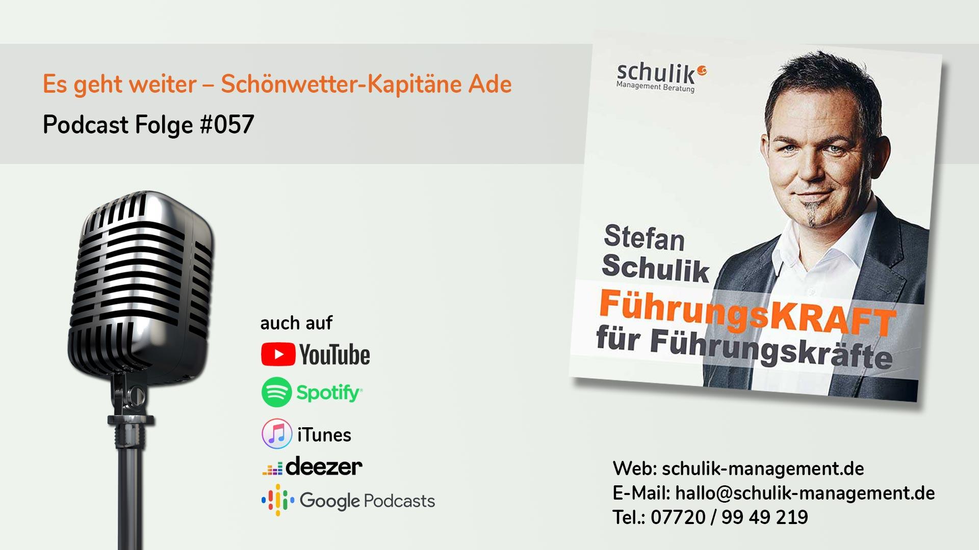 Es Geht Weiter – Schönwetter-Kapitäne Ade